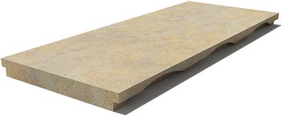 California Drain grate 610x250x30 mm, Prof. 0U, Sandblasted
