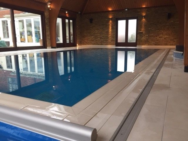 Indoor Overflow Pool With Royal Marfil Marble By Luxury
